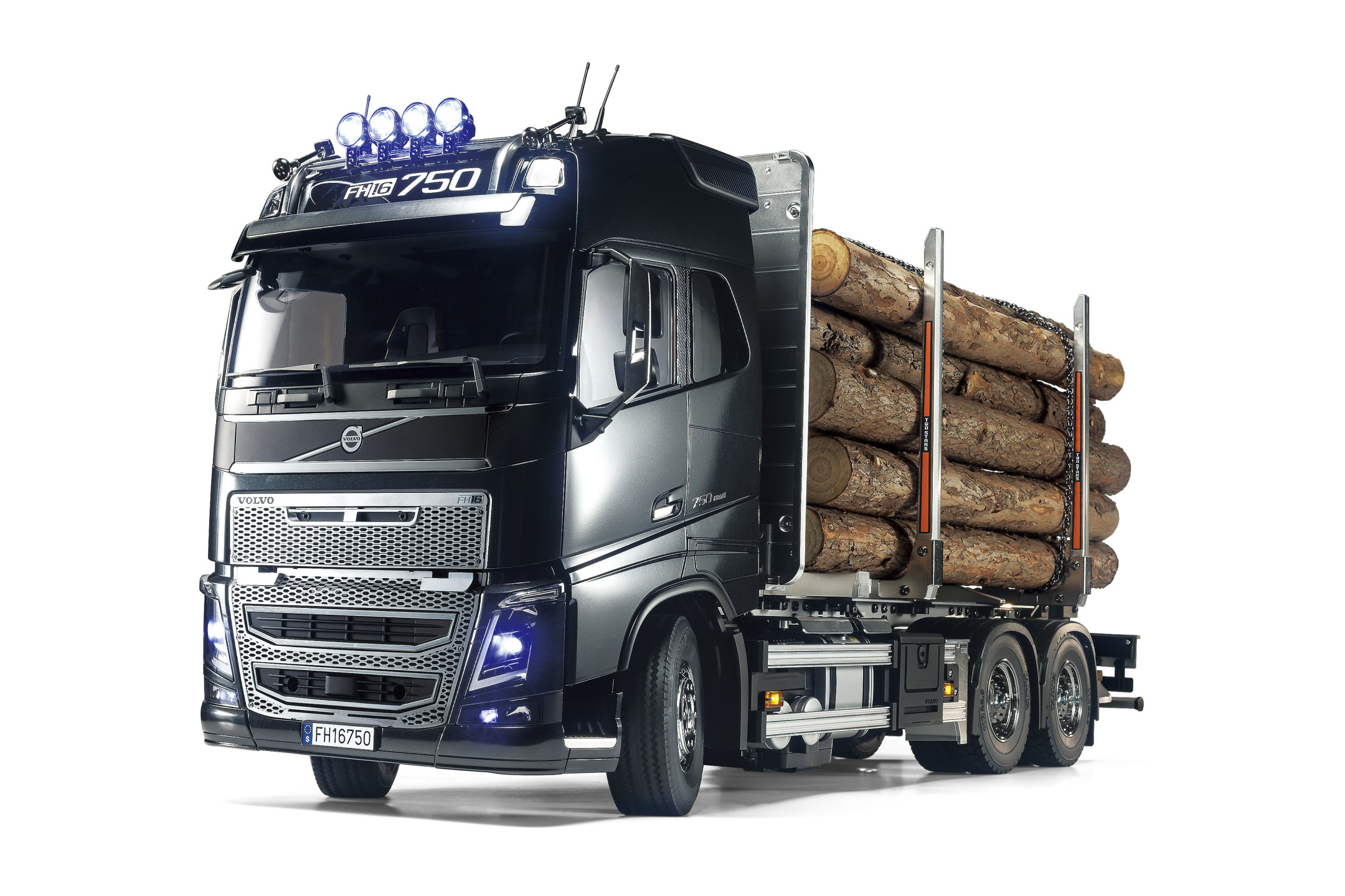 Lesu komplettes Heck Tamiya LKW 1:14 Volvo FH16 Holztransporter