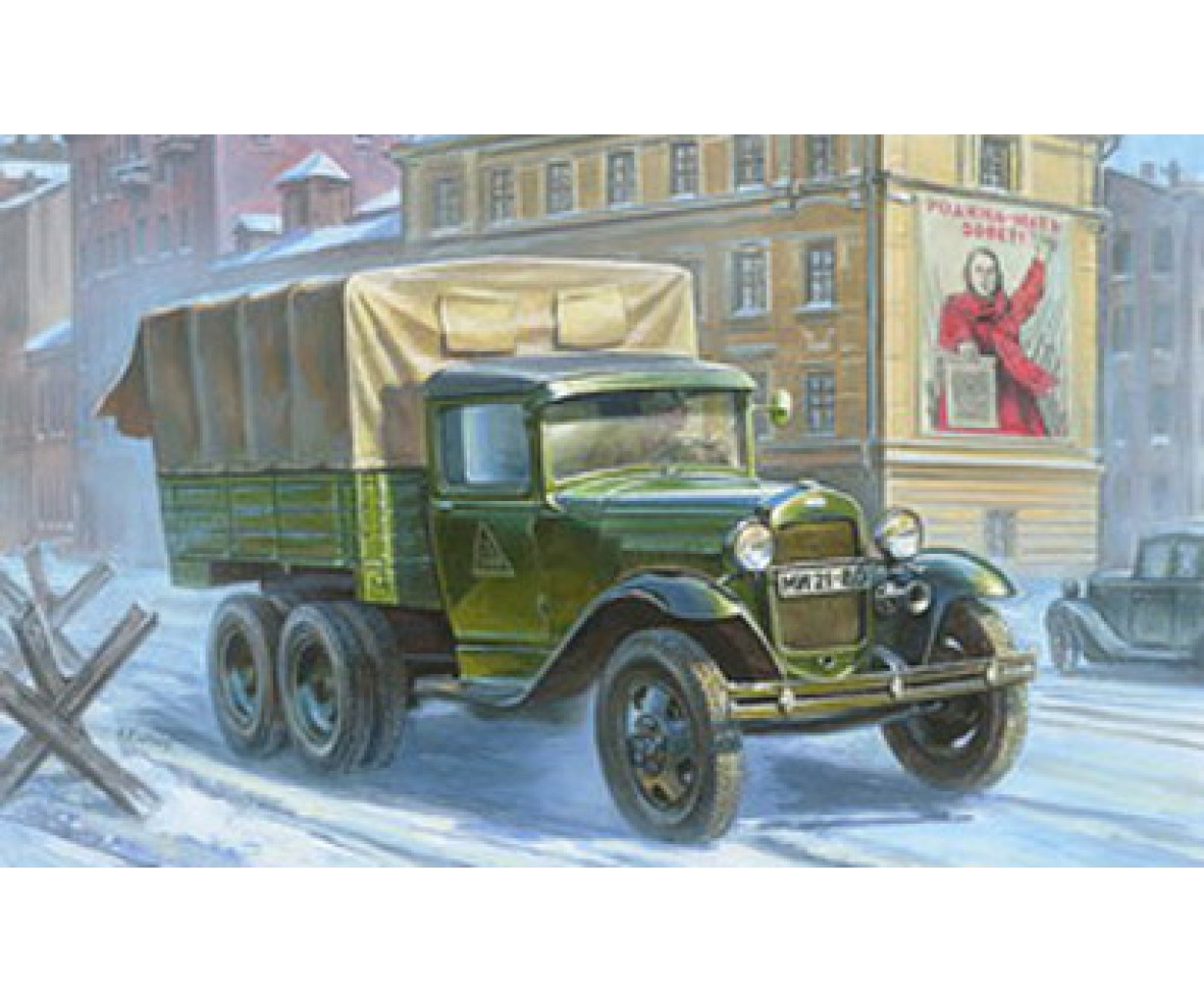 Zvezda 1:35 WWII GAZ-AAA Soviet Truck
